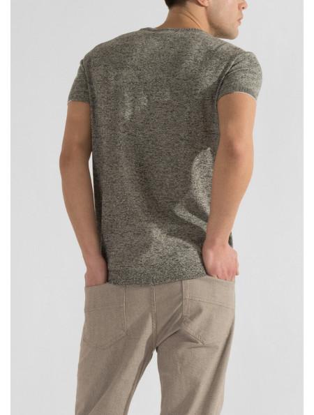 Men's cotton knit T-shirt