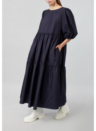 Dress Wth a Two-tiered Skirt
