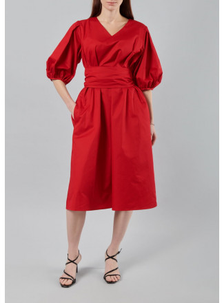 A-line Dress With Wide Sleeves