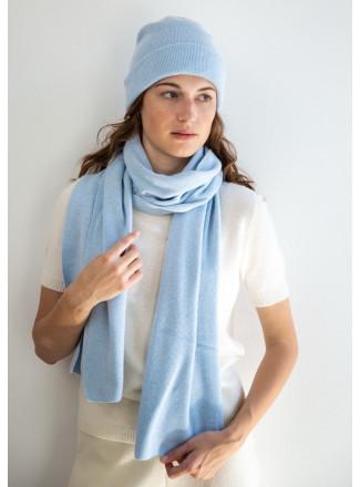 Soft Baby Blue Merino Scarf