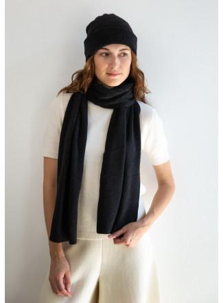 Soft Dark Gray Merino Double-Layer Hat