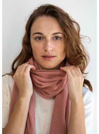 Soft Pink Merino Scarf