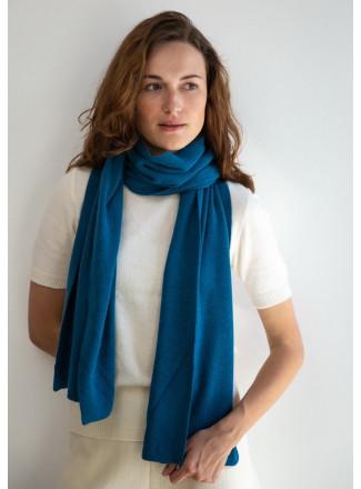 Soft Turquoise Merino Scarf