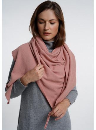 Soft Dusty Pink Merino Shawl
