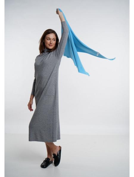 Soft Blue Merino Shawl