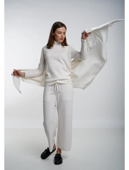 Soft Off-White Merino Shawl