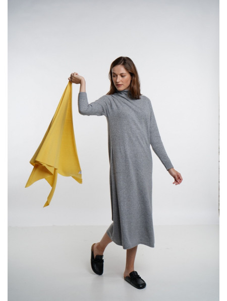 Soft Yellow Merino Shawl