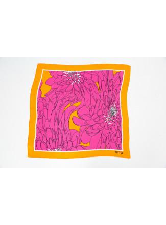 Pink Natural Silk Neckerchief