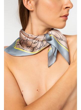 Grey Natural Silk Neckerchief