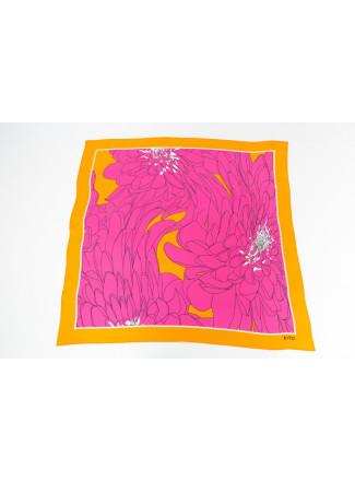 Large Pink Natural Silk Neckerchief