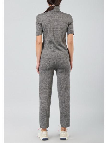 Short-Sleeved Half Wool Turtleneck