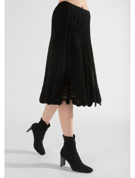 Knitted openwork skirt
