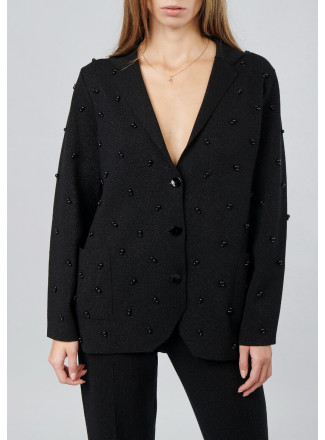 Beaded jacket with lurex