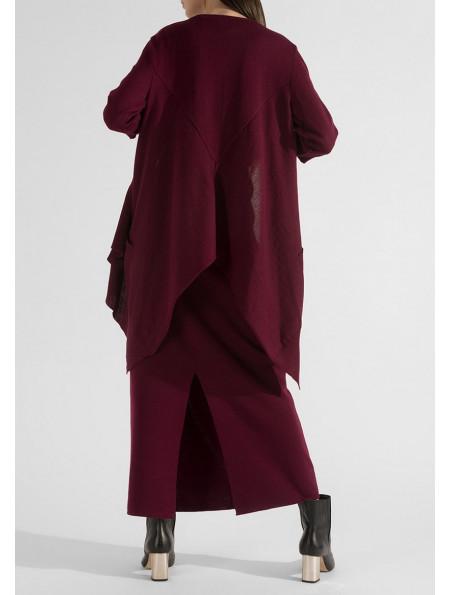 Сardigan jacket with coattails