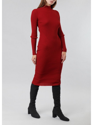 Knitted Fitted Elastic Dress