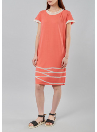 Mini dress with transparent chiffon