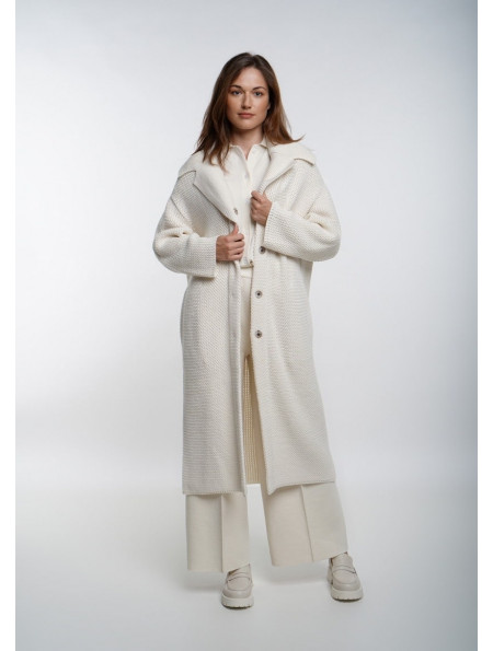 Off-White Oversized Single Breasted Coat