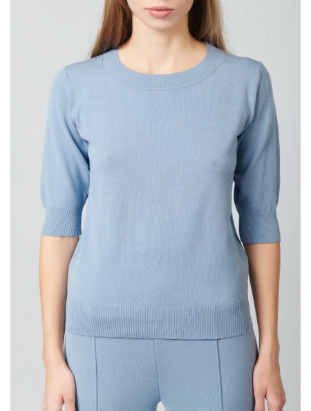 Jumper with short sleeve