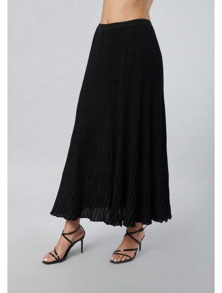 Maxi Lurex Pleated Skirt