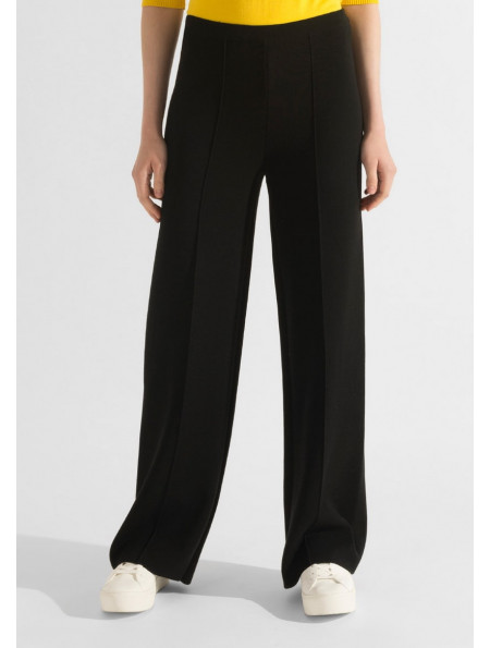 Straight Knit Viscose Trousers