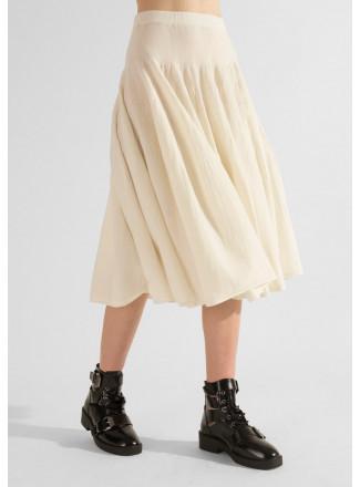 Flared Knit Skirt