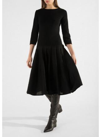 Lurex Dropped Waist Dress