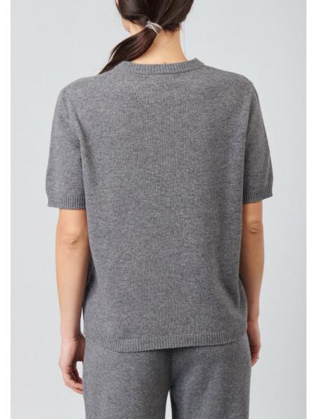 Short-Sleeved Merino Wool Jumper