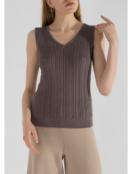 Textured Cable Knit Top