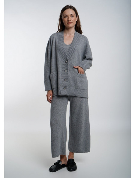 Cashmere and merino trousers