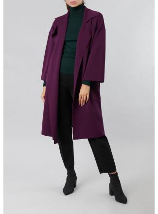 Thin knit coat