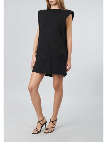 Mini Dress With Cut-out Back And Fringe