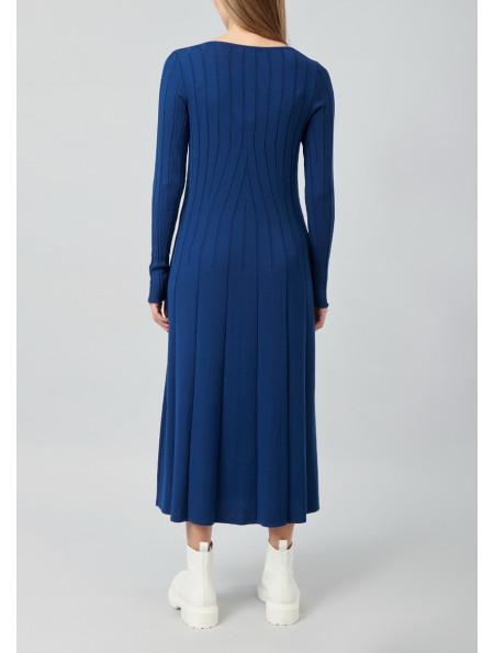 Long-sleeved Viscose Dress