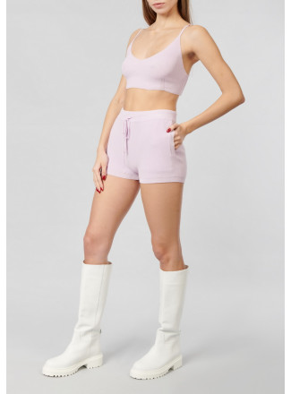 Cropped elastic top