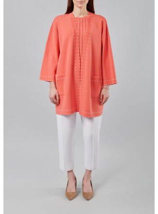 Loose-Fit Cardigan Without Fastening