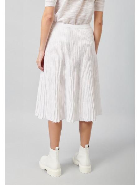 Pleated Cotton skirt