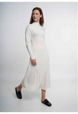 Off-White Knit Midi Dress