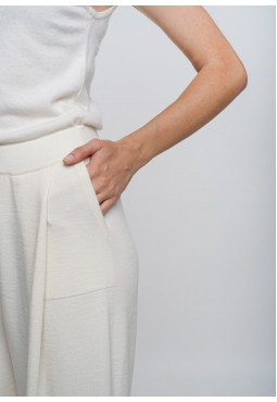 Off-White Wide Cropped Trousers
