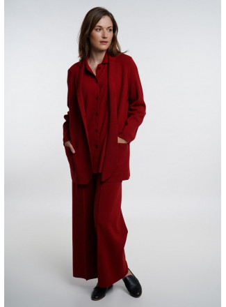 Red Knitted Blazer