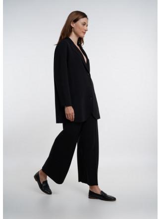 Black Knitted Blazer