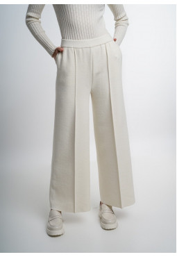 Off-White Wide Trousers With Seam