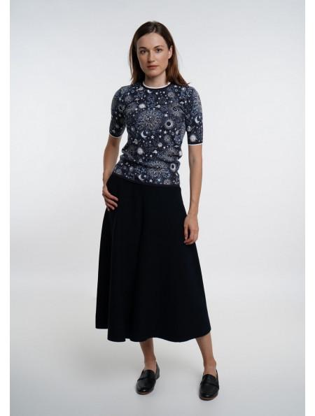 Navy Skirt-Trousers