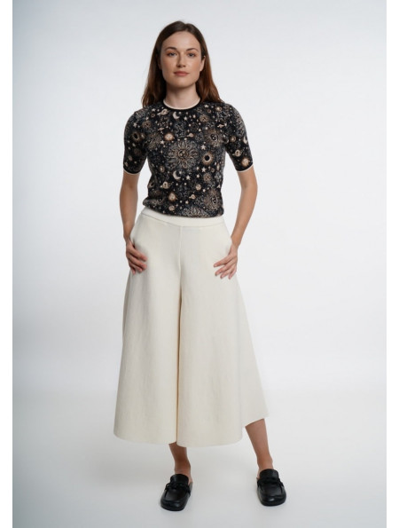 Off-White Skirt-Trousers