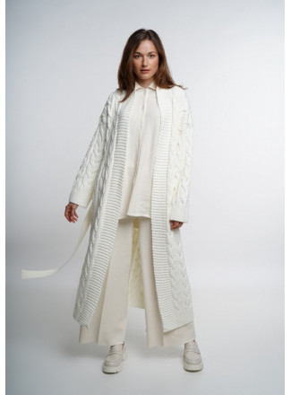 Off-White Long Cable Coat